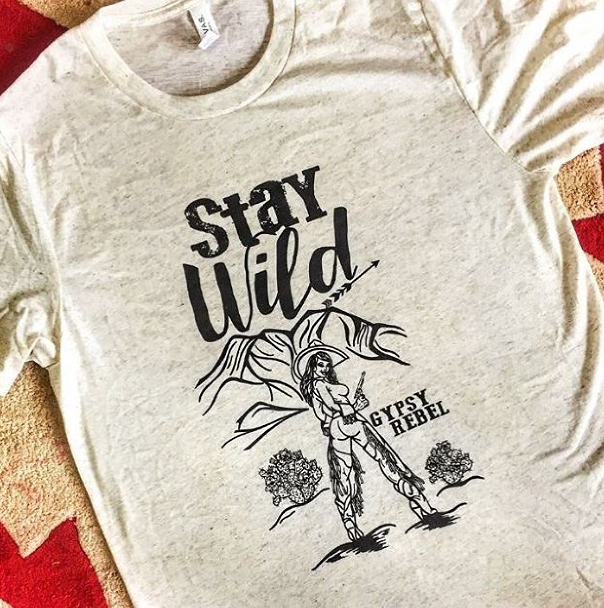Stay Wild Pin Up Girl GRB Tee
