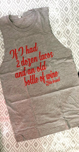 Bottle of Wine Cutoff Tank