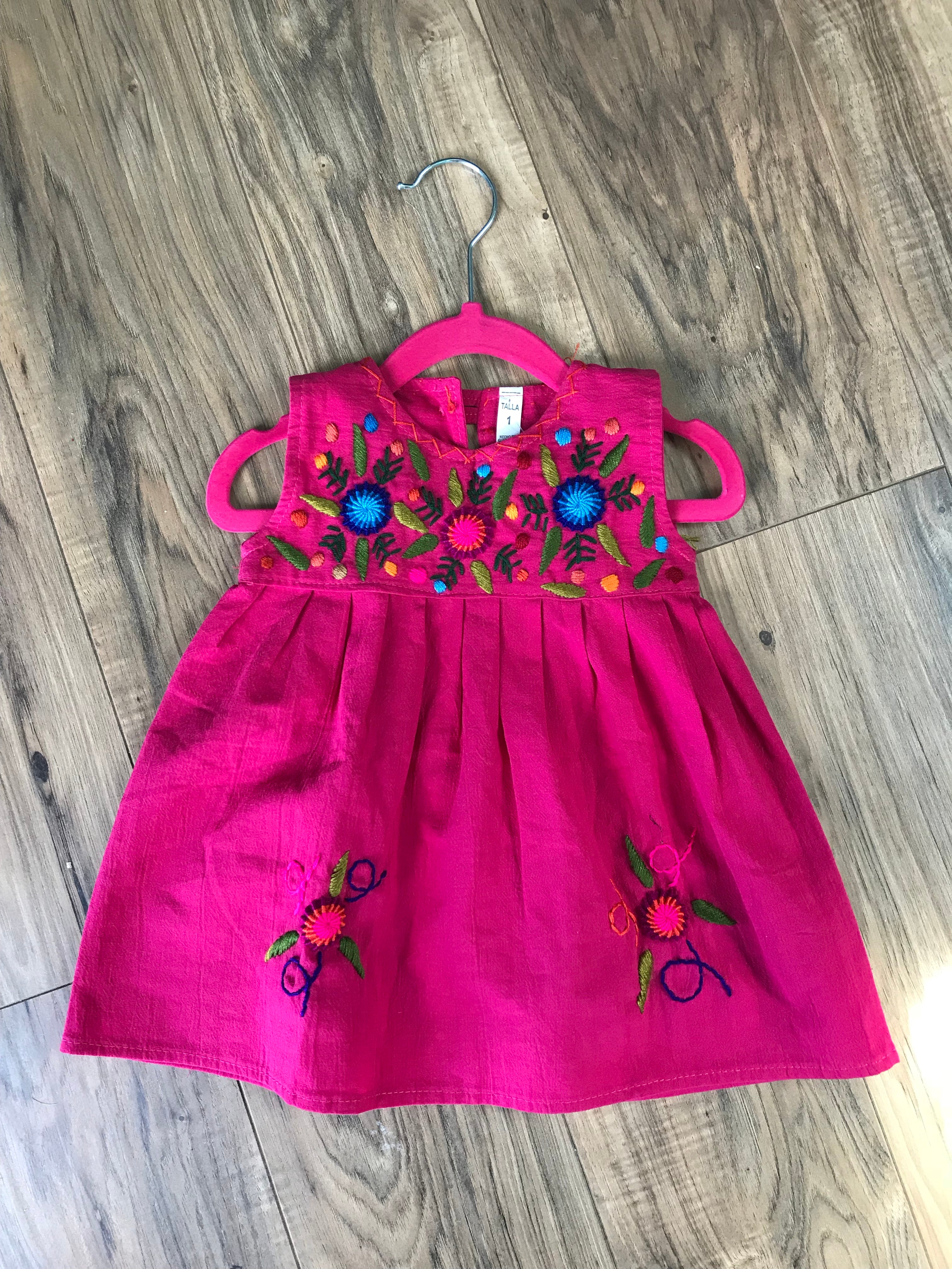 Little Gypsy Pink Embroidered Dress