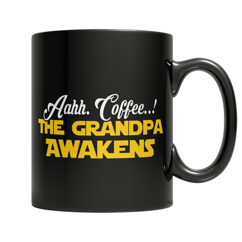 Limited Edition - Aahh Coffee..! The Grandpa Awakens - YouareUnique - 1