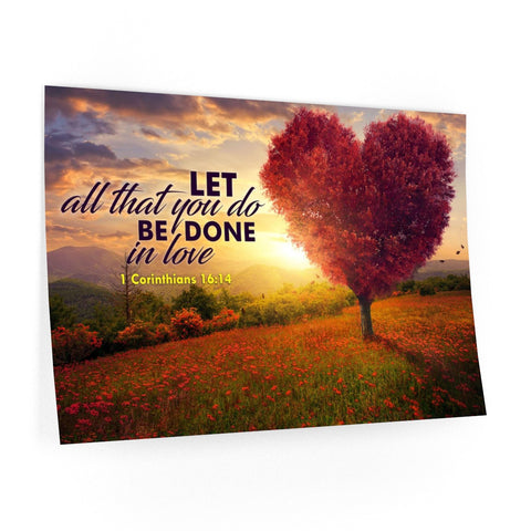 Let all that you do be done in love wall decal