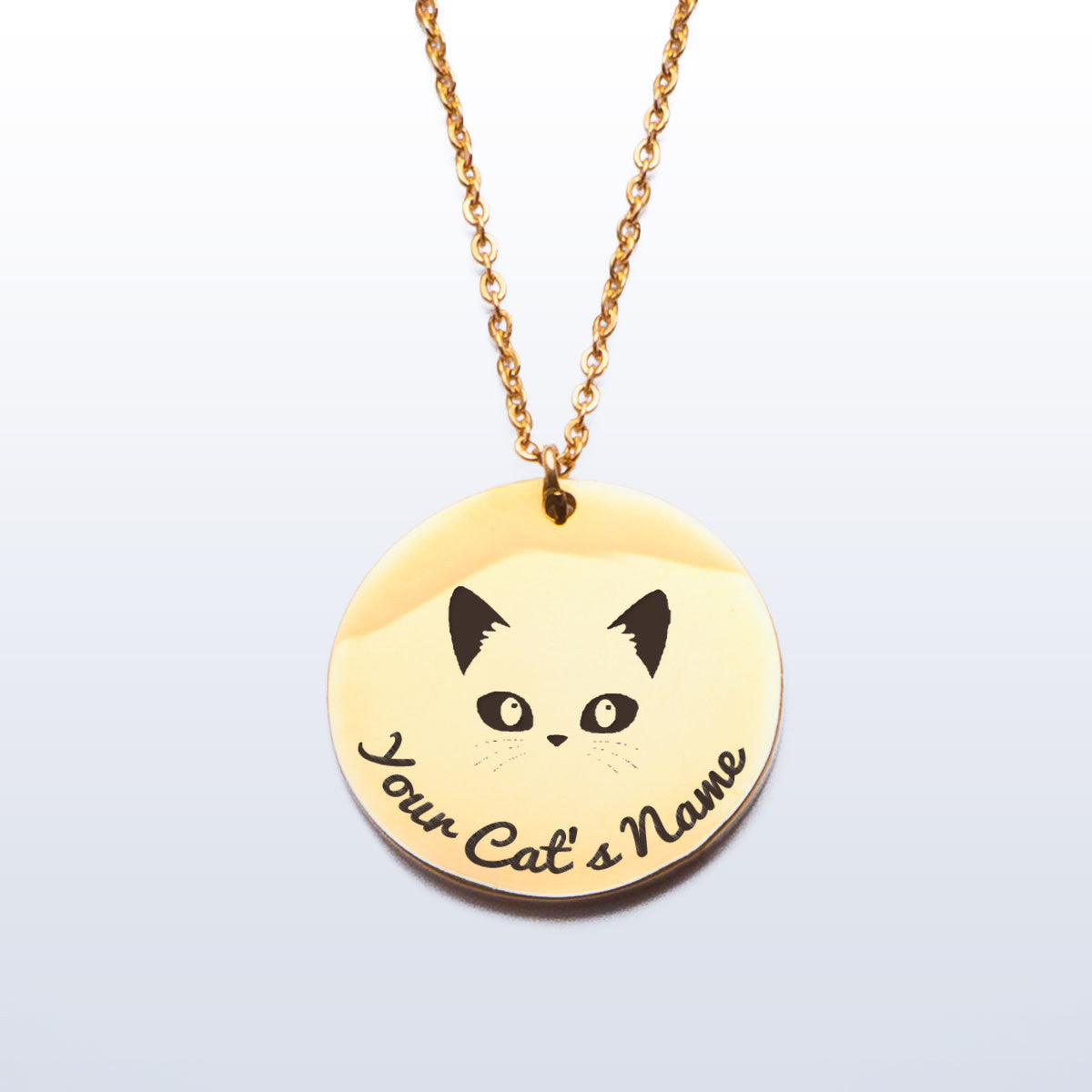 Handcrafted Stainless Steel Pendant for Cat Lovers