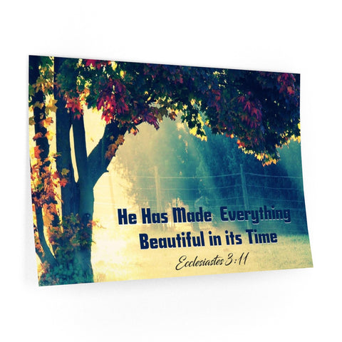 He has made everything beautiful in its time wall decal