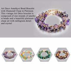 Amethyst Charm Bracelets & Bangles With Crystal Stones Friendship Bracelets For Women - YouareUnique - 4