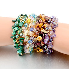 Amethyst Charm Bracelets & Bangles With Crystal Stones Friendship Bracelets For Women - YouareUnique - 5