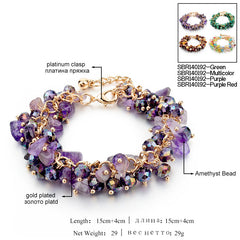 Amethyst Charm Bracelets & Bangles With Crystal Stones Friendship Bracelets For Women - YouareUnique - 2