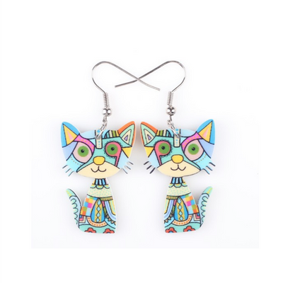 Fashionable Acrylic Cat earrings - YouareUnique - 4
