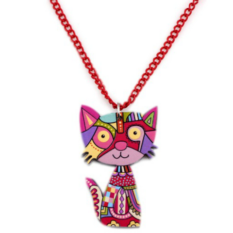 Fashionable Acrylic Cat necklace - YouareUnique - 1