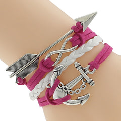 Arrow and Bow Braided Bracelet