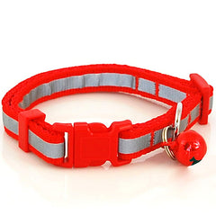 Nylon Polka Cat & Puppy  Collar Reflective And Star Style With Bell