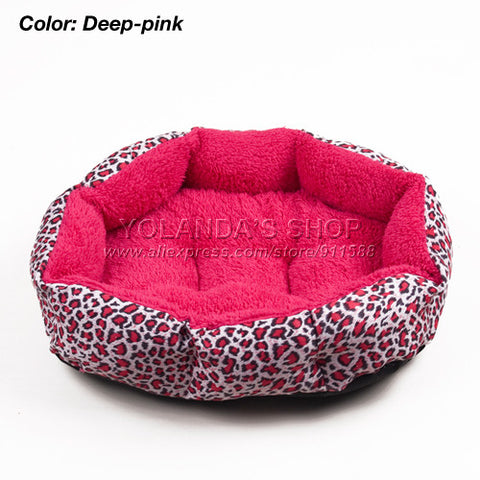 Colorful Leopard Print Pet Cat And Dog Bed