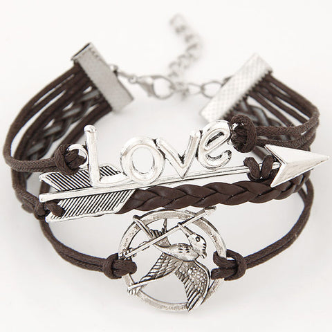 Arrow Bow Love Leather Bracelets