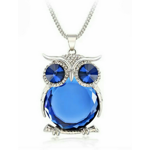 Top Quality Owl Rhinestone Crystal Pendant Necklace - YouareUnique - 1
