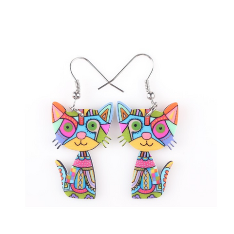 Fashionable Acrylic Cat earrings - YouareUnique - 1