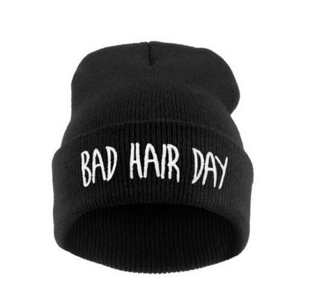 """Bad Hair Day"" unisex winter beanie - YouareUnique - 1"