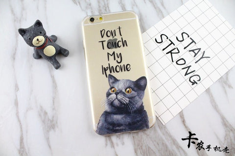Korea cute cartoon cat iPhone7 generation mobile phone cover