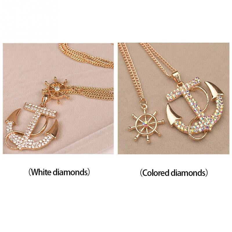 FREE Crystal Anchor Pendant Necklace (ONLY ONE FOR EVERY PURCHASE)