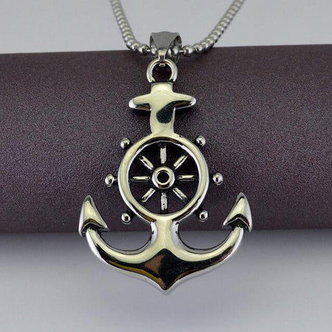 Vintage Navy Anchor Necklace