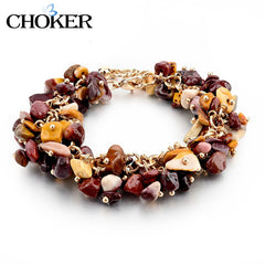 Amethyst Charm Bracelets & Bangles With Crystal Stones Friendship Bracelets For Women - YouareUnique - 10