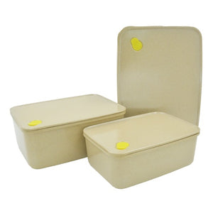 Rice Husk Storage Containers - Set of 3