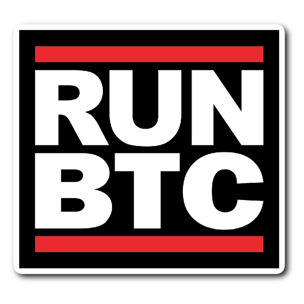 RUN BTC sticker - Stickers - The Resistance