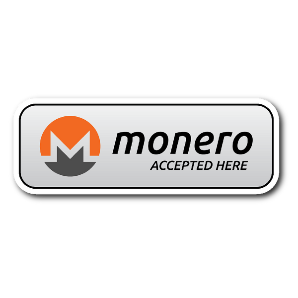 Monero Accepted Here Sticker - Stickers - The Resistance