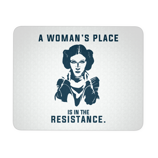 A Woman's Place is in the Resistance Mousepad - Mousepads - The Resistance
