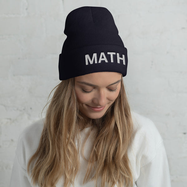 MATH - Make America Think Harder Yang 2020 Cuffed Beanie - Hat - The Resistance