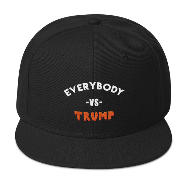 Everybody Vs Trump Snapback Hat - Hat - The Resistance