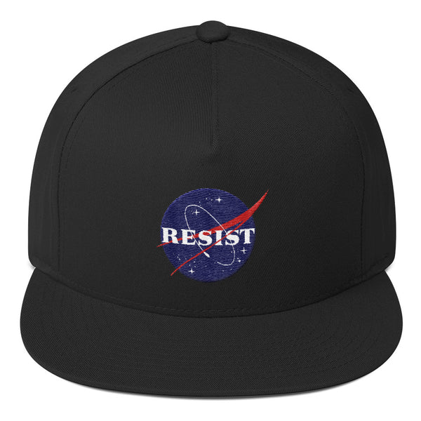 Nasa Resist Flat Bill Cap - Hat - The Resistance