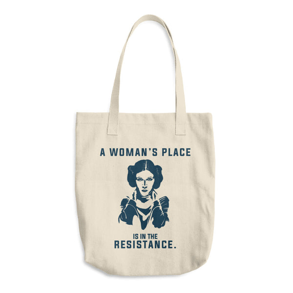 A Woman's Place is in the Resistance Cotton Tote Bag -  - The Resistance