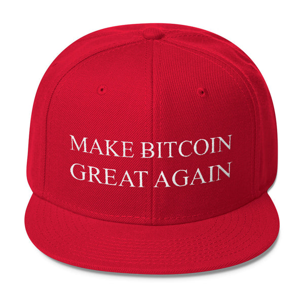 Make Bitcoin great again Hat - Otto Wool Blend Snapback - Hat - The Resistance