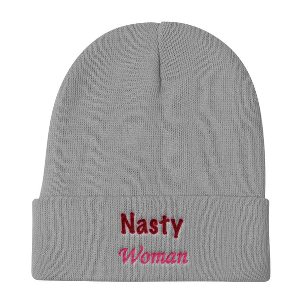 Nasty Woman Knit Beanie - Hat - The Resistance