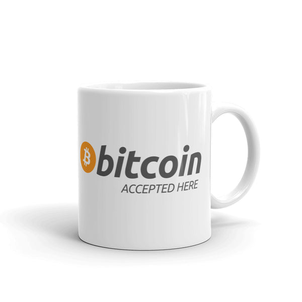 Bitcoin Accepted Here Mug - mug - The Resistance
