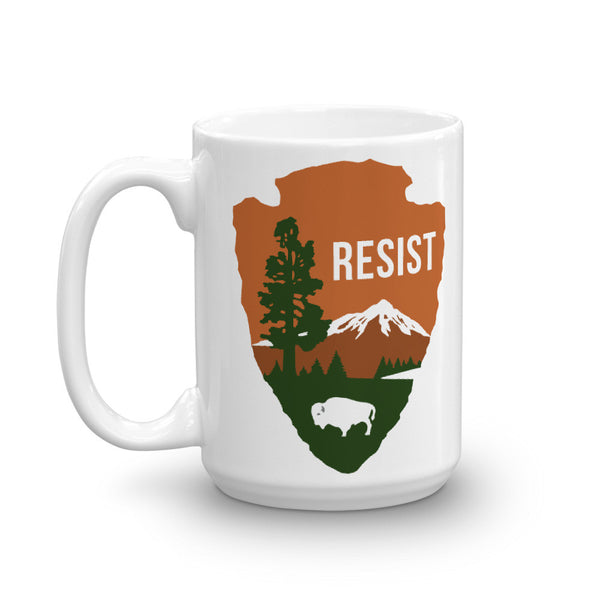 "National Parks Service ""RESIST"" Mug - mug - The Resistance"