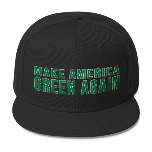 Make America Green Again Wool Blend Snapback Hat - Hat - The Resistance