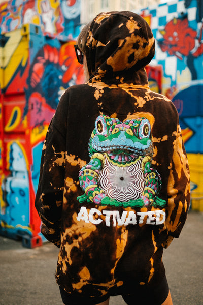 Limited Edition Bleach-Dyed ACTIVATED Hoodie