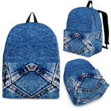 Denim Print Backpacks