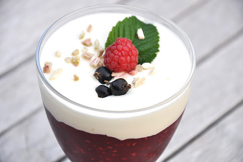 Red Berry Compote with Cream (Rød Grød med Fløde) 500 gr - 2 servings