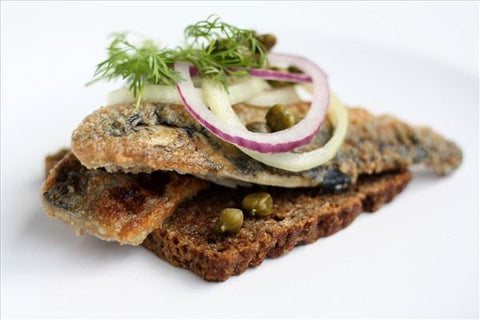 Herring, Fried in brine preserve (Stegte Sild) 100 gr