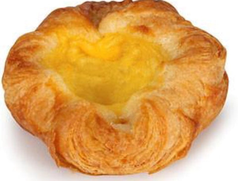 Danish Pastry, Vanilla Crown (Stor Spandauer med Creme) 24x45 grams  Frozen Bake Off