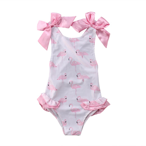 7c8c9ed082cf3 Girl s Pretty In Pink Flamingo Swimsuit – Fad Frenzy