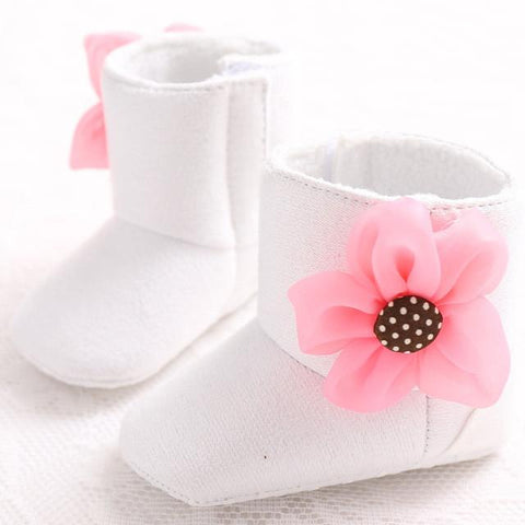Baby girls fleece flower accent boots 6 color options fad frenzy baby girls fleece flower accent boots 6 color options shoes white mightylinksfo