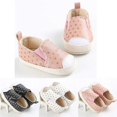 e02b88036c25 Baby Girl s Soft Sole Polka Dot Canvas Shoes (3 Color Options)-shoes-