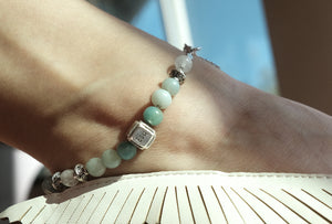 Amazonite Quartz Anklet
