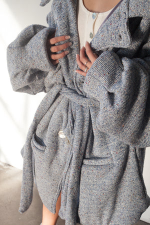 CLOUD COAT BLUE KNIT