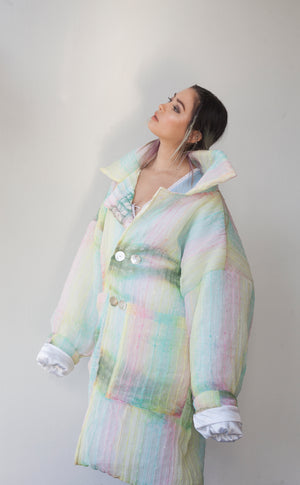CLOUD COAT ༓ PASTEL SEQUINS