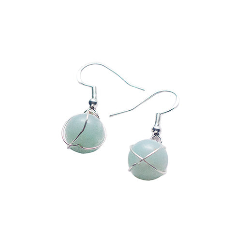 Amazonite + Silver Earrings