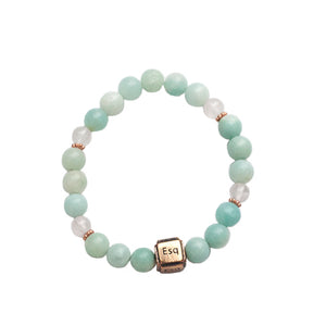 Amazonite Quartz Copper [esq] Bracelet