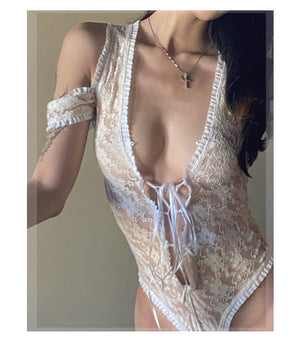 floate 1 piece ~ lace white